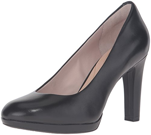 Rockport Women's Seven to 7 Ally Pump Platform, Black Calf, 7.5 W US