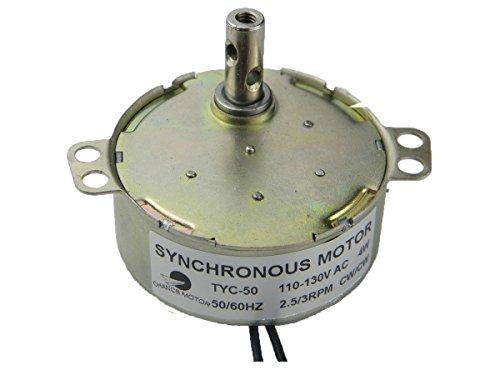 Price comparison product image CHANCS TYC-50 Synchronous Motor 110V AC 2.5-3RPM CW/CCW Torque 8Kg.cm