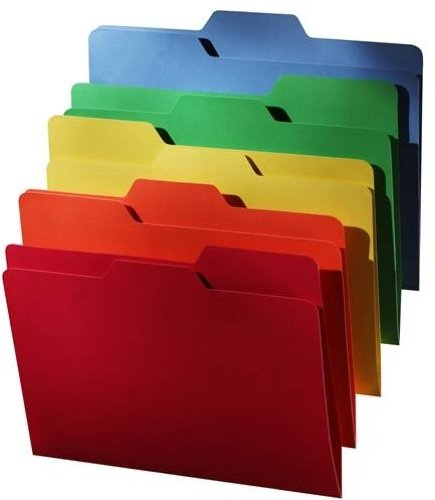 (Find It All Tab File Folders, Letter Size, 5 Color Assortment, 80 Folders per Pack (FT07070))