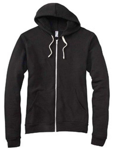 Bella+Canvas Unisex Tri-blend Full-Zip Hoodie - Solid Black TriBlend - M
