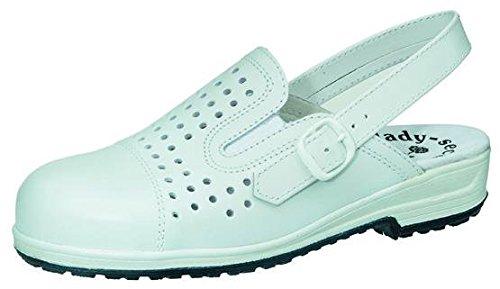 STEITZ SECURA Tanja zapatos de seguridad Clog Clogs blanco señora abiertos p.ej., schuhgrößen (neu):35