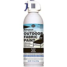 Deval Products OF0046001M Outdoor Spray Fabric Paint , Black