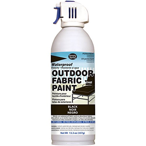 Deval Products OF0046001M Outdoor Spray Fabric Paint, 13.3 oz, Black]()