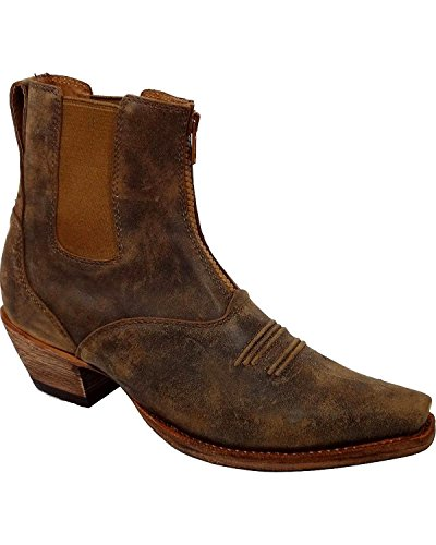 Twisted X Women's Steppin' Out Side Gore Cowgirl Boot Snip Toe Tan 6 M US (Side Leather Gore)