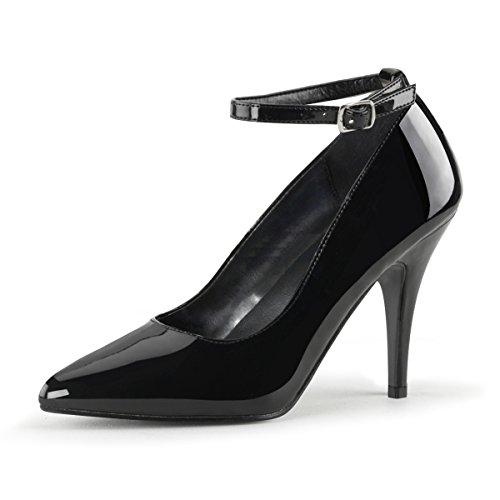 PleaserUSA Damen High Heel-Pumps Vanity-431 Abendschuhe Ausgehschuhe Tanz Gala Elegant Lack Schwarz