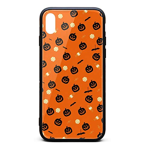 Phonerebey iPhone Xs Max Case,Halloween Wallpaper Decor Anti-Scratch Shockproof Slim Cover Case Compatible with Apple iPhone Xs Max Case,TPU and Tempered Glass -