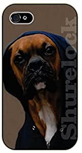 iPhone 5 / 5s Bulldog with hoodie - black plastic case / dog, animals, dogs