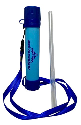Outdoors 365 Survival Straw Portable Emergency Camping Water Filter by FrogDogz 365