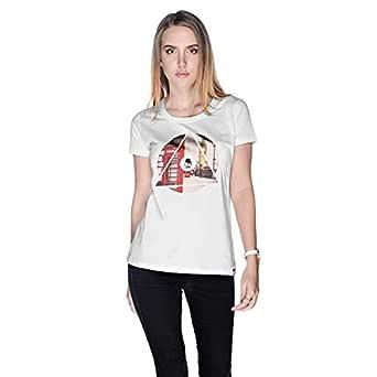 Creo London Underground T-Shirt For Women - S, White