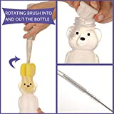2 Pack Honey Bear Straw Cups with 4 Flexible Straws