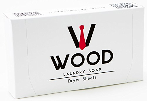 (Dryer Sheets with Sandalwood Citrus Scent by Wood Laundry Soap, 40 Count (2, 40 Count))