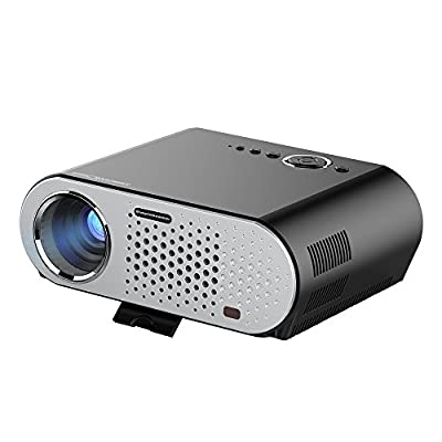 Simplebeam Native 720p Projector GP90, Portable Multimedia 3200 Lumens Video Projector 1280x800p Wide Screen Support 1080p with VGA USB HDMI for Home Theater Party