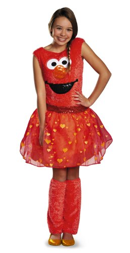 Disguise Sesame Street Elmo Tween Deluxe Tween Costume, X-Large/14-16