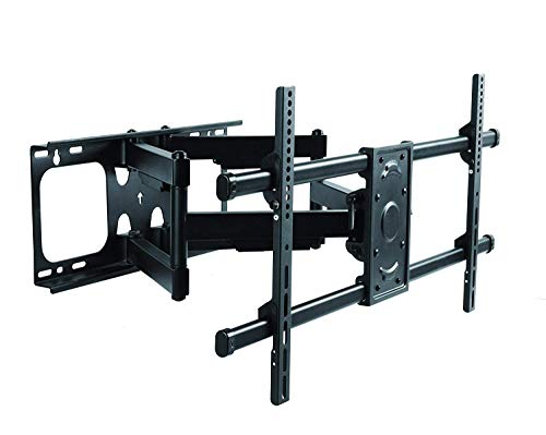 Premium Mount - Heavy Duty Dual Arm Articulating TV Wall Mount Bracket for Samsung QN82Q8FNBFXZA 82