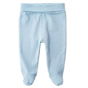 QGAKAGO Infant Baby Cotton High Waist Footed Pants Casual Leggings 0-12 Months (0-3 Months, Blue)