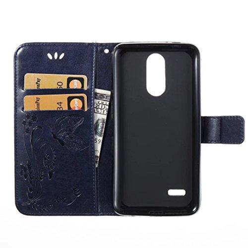 COWX LG k4 (2017) Hülle Kunstleder Tasche Flip im Bookstyle Klapphülle mit Weiche Silikon Handyhalter PU Lederhülle für LG k4 (2017) Tasche Brieftasche Schutzhülle für LG k4 (2017) schutzhülle