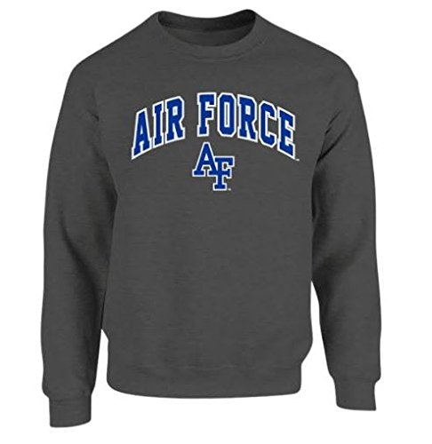 Elite Fan Shop Air Force Falcons Crewneck Sweatshirt Charcoal - - Air Sweatshirt Force Crewneck