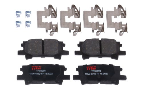 Highlander Rear Brake (TRW TPC0996 Premium Ceramic Rear Disc Brake Pad Set)