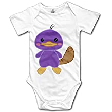 Cute Platypus Infant Short Sleeve Baby Onesies