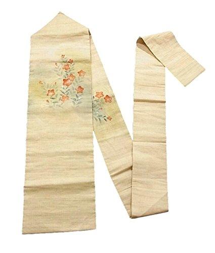 無数のきつくエコーリサイクル 名古屋帯 夏物 麻 桔梗の花