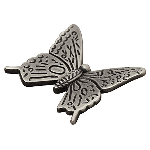 10 Pcs Butterfly Alloy Cabinet Knobs, 43mm Butterfly Shape Drawer Kitchen Cabinets Dresser Cupboard Wardrobe Pulls Handles (as Shown) by cyclamen9 (Image #6)