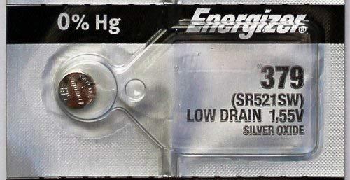 Energizer 379 (SR521SW) Silver Oxide Battery (Pack of 5)