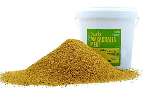 -carb MACADAMIA Mehl (teilentölt), 750 g