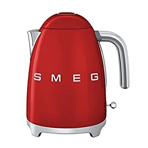 Smeg KLF01RDUS 50's Retro Style Aesthetic Electric Kettle, Red 2