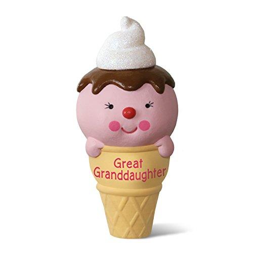 Hallmark Keepsake 2017 Ice Cream Cone Great Granddaughter Dated Christmas Ornament