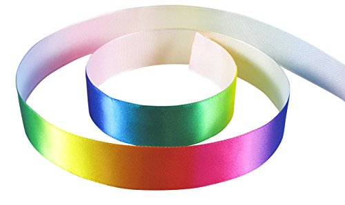 Hearts Gift Tower (HipGirl Rainbow Grosgrain or Satin Ribbon for Hair Bows, Floral Designs, Gift Wrapping, Sewing and More (5yd 7/8