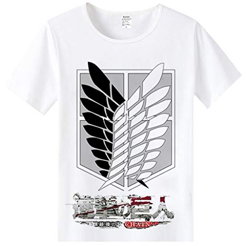 DUNHAO COS Anime Attack On Titan Cosplay Costume Tee Short Sleeve