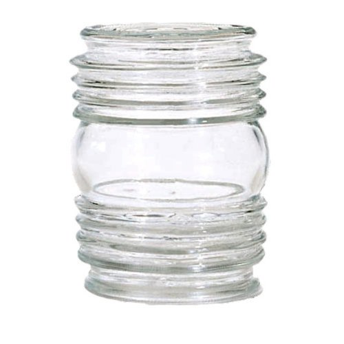 Clear Cylindrical Glass Shade - 3-1/4-Inch Fitter Opening
