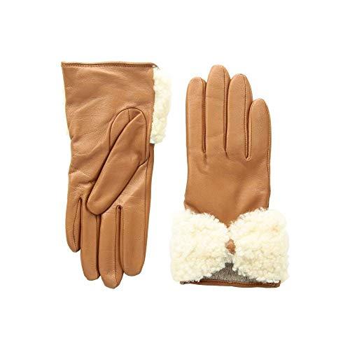 (アグ) UGG レディース 手袋?グローブ Tech Leather Gloves with Sheepskin Bow [並行輸入品]