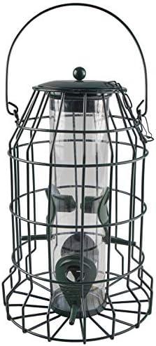Windhager Protector vogelvoedersilo met roofbescherming vogelhuis voederhuis vogelhuisje vogelvoederstation om op te hangen vogelzilver 06514 antraciet