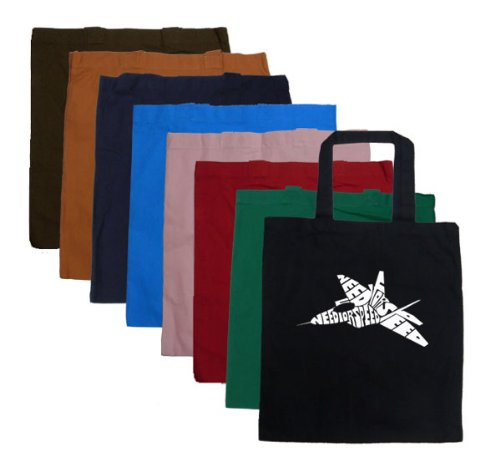 Small Red Fighter Jet Word Art Word Art Tote Bag - for sale  Delivered anywhere in Canada