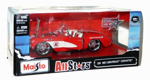Maisto All Stars Diecast 1957 Chevrolet Corvette - Scale 1:24 - -