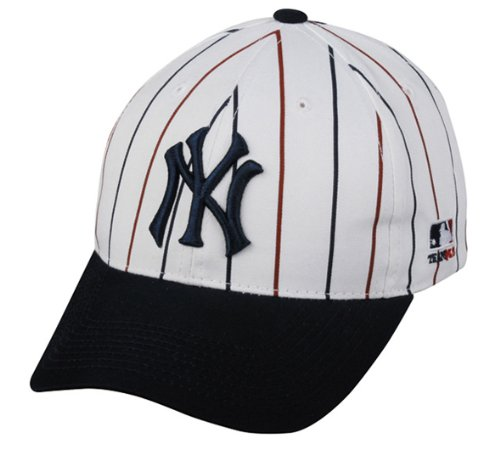 New York Yankees ADULT Cooperstown Throwback Retro Officially Licensed MLB Adjustable Velcro Baseball Hat Ball (Vintage Baseball Jersey)