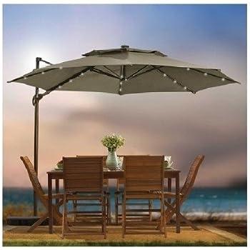 Amazon Com Destination Summer Outdoor Patio Cantilever Umbrella 11 Foot Round Canopy