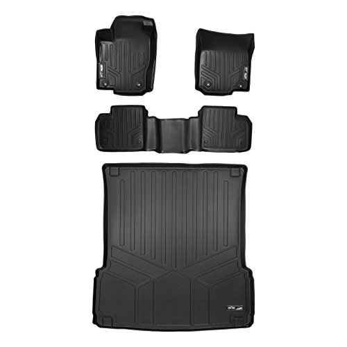 (MAX LINER A0104/B0104/D0205 Custom Fit Floor Mats 2 Rows and Cargo Liner Set Black for 2012-2019 Mercedes Benz GLS Series )