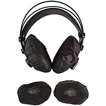 100 Pack Replacement Sanitary Headphone Covers Disposable Stretchable Headset Covers Earpiece Cushions for Earmuff-Style Gaming Headphone//VR Headset//Most Medium//Large-Size Headphones 11cm