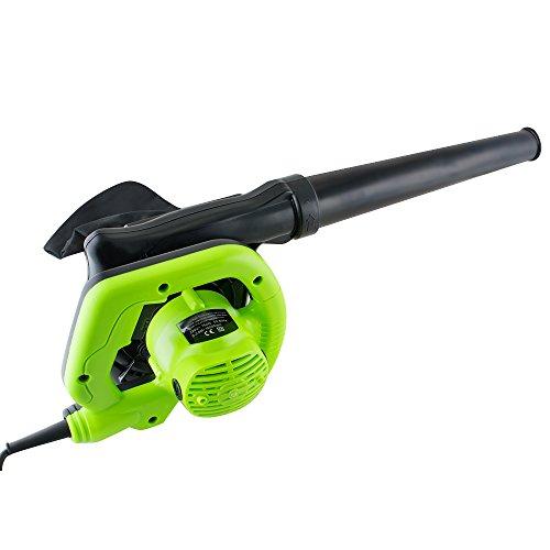 Zinnor 600W Electric Blower Hand Held Dust Vacuum Vacuum Shredder Mini Powerful Garden Lawn Leaf Cleaner Car Dryer US Plug (Green) by Zinnor