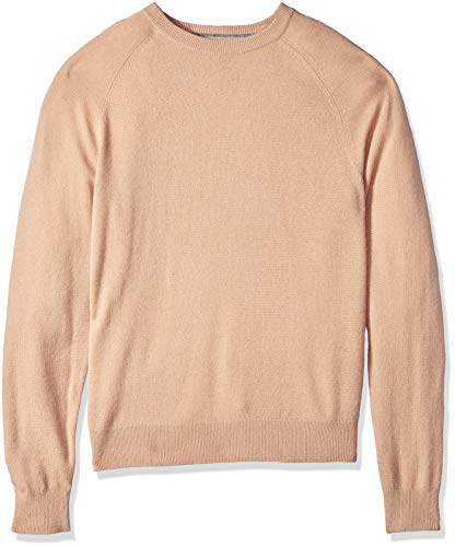 Crewneck Cashmere Sweater Camel - BUTTONED DOWN Men's 100% Premium Cashmere Crewneck Sweater, Camel, Medium