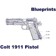 Colt 1911 Pistol Blueprints PLUS parts diagram PLUS 15 page photographic gun disassembly guide