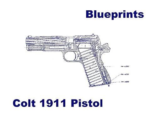 colt 1911 pistol blueprints plus parts diagram plus 15 page rh amazon com 1911 Pistol Schematic 1911 Pistol Exploded View Schematic