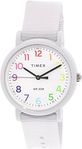 Timex Women's Weekender TWG018200 White Nylon Analog Quartz Dress Watch