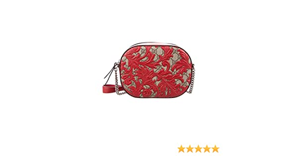 9017eba2bc324a Amazon.com: Gucci Dionysus Red Lace Signature Arabesque Med Shoulder Bag  Handbag Italy New: Shoes