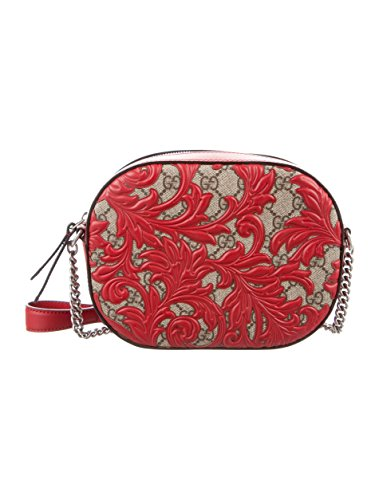 Gucci Dionysus Red Lace Signature Arabesque Med Shoulder Bag Handbag Italy New (Fashion Shoulder Gucci Handbag)