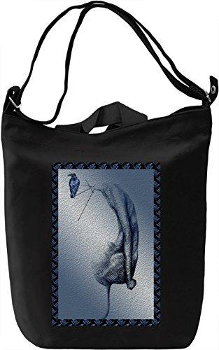 Surreal Crow Borsa Giornaliera Canvas Canvas Day Bag| 100% Premium Cotton Canvas| DTG Printing|