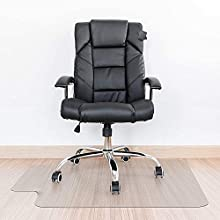 """Kuyal Clear Chair Mat, Hard Floor Use, 30"""" x 48"""" Transparent Office Home Floor Protector mat Chairmats (30"""" X 48"""" with Lip)"""