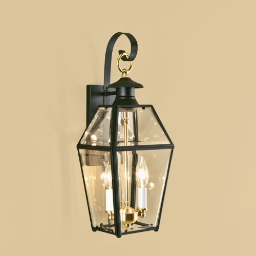 - Norwell Lighting 1066-BL-BE Olde Colony - Two Light Outdoor Wall Mount, Finish: BL: Black
